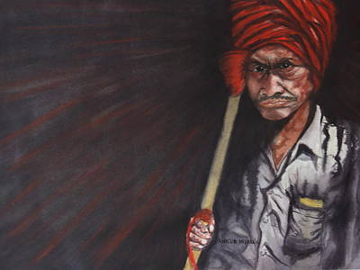 Pine Barrens Painting - Indian Farmer  by Ankur Mishra