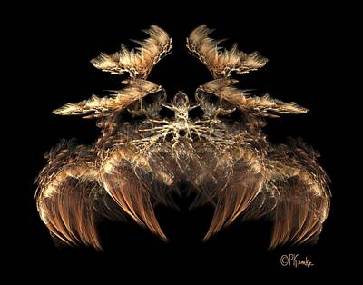 Digital Art - Indian Feather Headdress 5 by Patricia Kemke