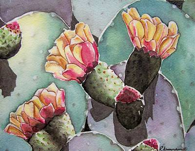 Painting - Indian Fig Cactus by Regina Ammerman