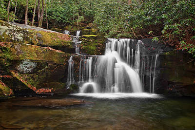 Photograph - Indian Flats Falls - Great Smoky Mountains by Shari Jardina