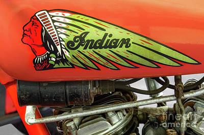 Indian Motorcycle Company Photograph - Indian Gas Tank by Jerry Fornarotto