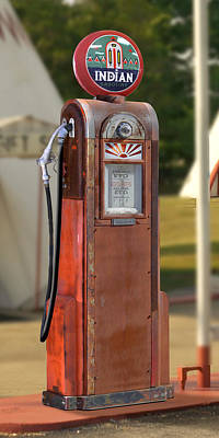Gas Pump Wall Art - Photograph - Indian Gasoline - Wayne Pump by Mike McGlothlen