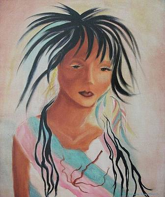 Indian Girl Art Print by Suzanne  Marie Leclair