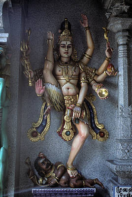 Hindu Goddess Photograph - Indian Goddess Khali In Singapore by Carl Purcell