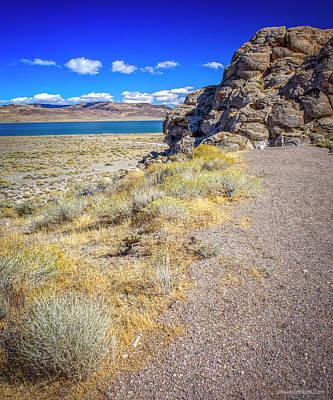 Photograph - Indian Head Beach Pyramid Lake Nevada by LeeAnn McLaneGoetz McLaneGoetzStudioLLCcom