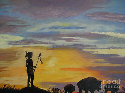 Indian Tribal Art Painting - Indian Heritage Of The West by Elizabeth A Gawronski