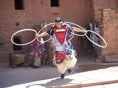 Photograph - Indian Hoop Dancer by Anita Burgermeister