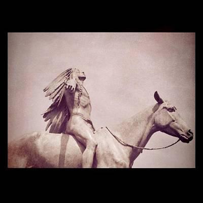 Horse Wall Art - Photograph - #indian #horse #statue #mfa #boston by Vicki Leggett