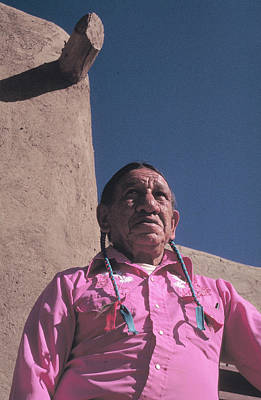 Photograph - Indian In Taos New Mexico by Carl Purcell