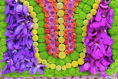 Photograph - Indian Inspired Floral Arrangement by Tim Gainey