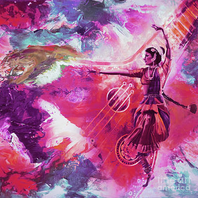 Indian Kathak Dance 87y Original by Gull G