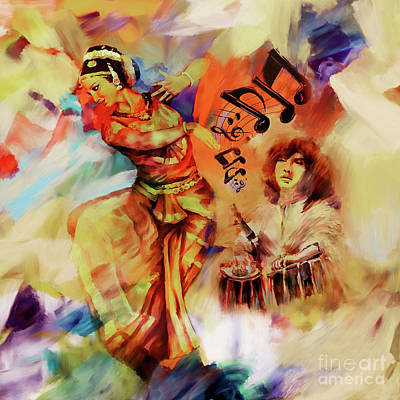 East Indian Painting - Indian Kathak Dance Art 67 by Gull G