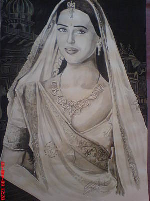 Orlando Bloom Drawing - Indian Lady by Sandeep Kumar Sahota