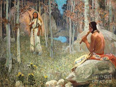 Painting - Indian Love Call by Roberto Prusso