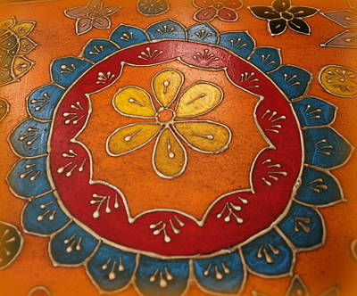 Indian Mandala  Art Print by Dora Sofia Caputo Photographic Art and Design