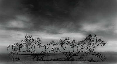 1876 Digital Art - Indian Memorial At Little Bighorn National Monument by Marissa Hodge
