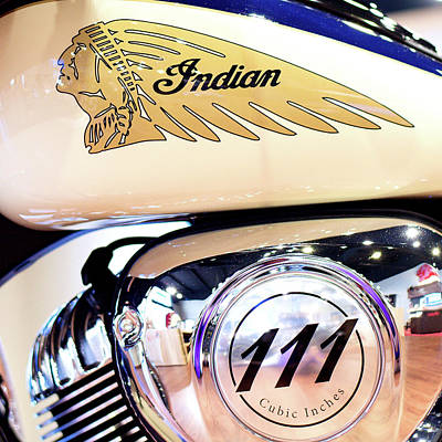Photograph - Indian Moto 111 81316 by Rospotte Photography