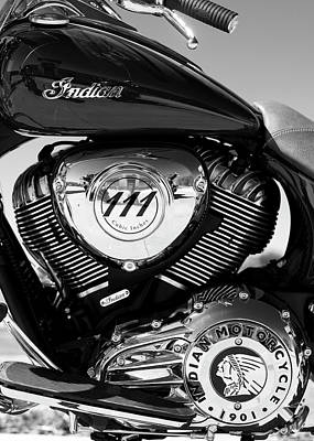 Photograph - Indian Moto 111 Bw by Rospotte Photography