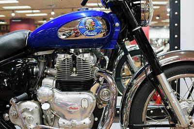 Photograph - Indian Motobike Vintage V2 by Rospotte Photography