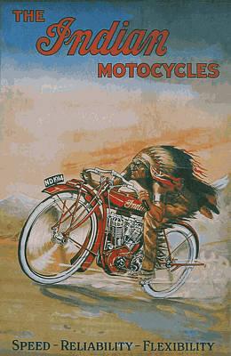 Indian Motocycles 1914 Art Print