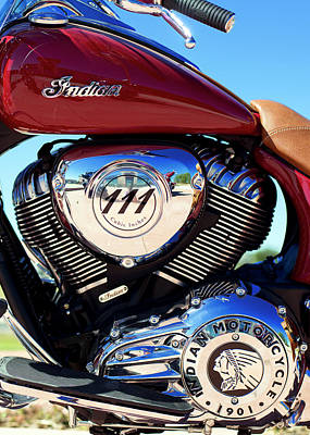 Photograph - Indian Motorcycle 081116 by Rospotte Photography