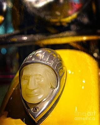 Photograph - Indian Motorcycle Fender Light by Jenny Revitz Soper