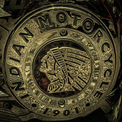 Indian Motorcycle Logo Art Print by David Patterson