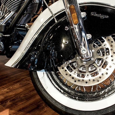 Photograph - Indian Motorcycle Wheel by Rospotte Photography