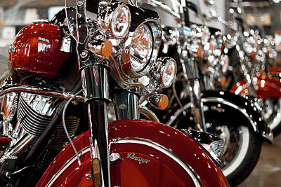 Photograph - Indian Motorcycles Row by Rospotte Photography