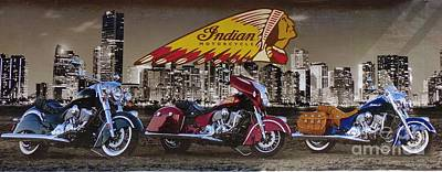 Indian Motorcycle Company Photograph - Indian Motorcyle Company by Carlos Amaro
