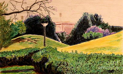 Indian Mounds Original by Jan Turner