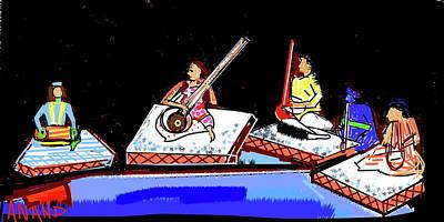 Digital Art - Indian Music Concert by Anand Swaroop Manchiraju