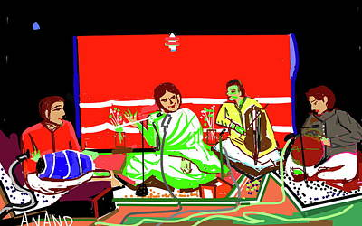 Digital Art - Indian Musical Concert by Anand Swaroop Manchiraju