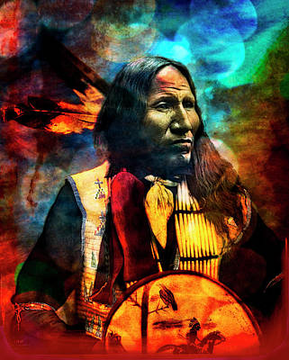 Indian Cherokee Digital Art - Indian Nation by Debra and Dave Vanderlaan