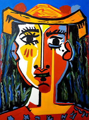 Painting - Indian  One  Picasso by Nora Shepley