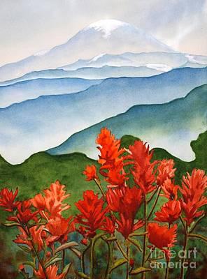 Indian Paintbrush At Mout Rainier Original