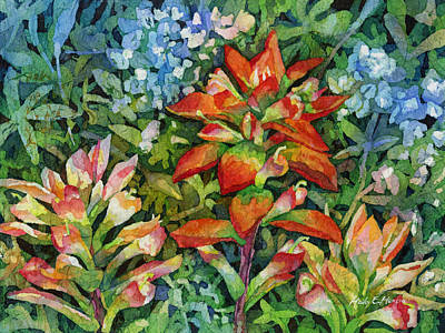 State Love Nancy Ingersoll - Indian Paintbrush by Hailey E Herrera