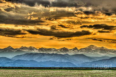 Photograph - Indian Peaks Sunset by Greg Summers