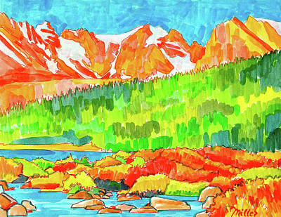 Painting - Indian Peaks Wilderness by Dan Miller