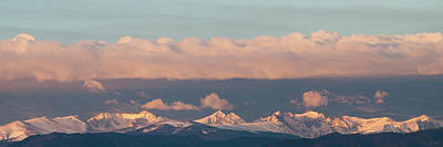 Photograph - Indian Peaks Winter Sunrise by Aaron Spong