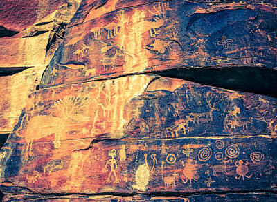 Photograph - Indian Petroglyphs by Alexey Stiop