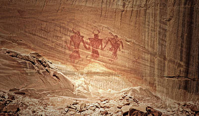 Photograph - Indian Pictograph by Ronald Lafleur