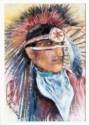Painting - Indian Portrait by Linda Shackelford