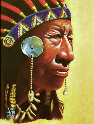Drawing - Indian Portrait by Martin Howard