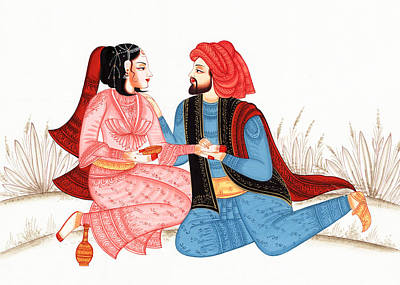 Photograph - Indian Rajasthani Painting by Munir Alawi