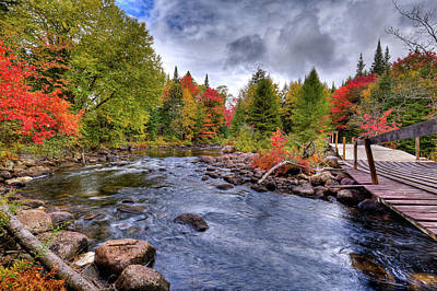 Golf Photograph - Indian Rapids Footbridge by David Patterson