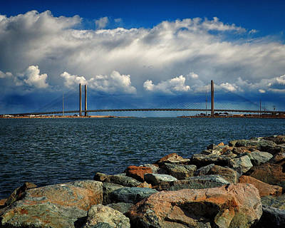 Photograph - Indian River Bridge Cloud Bank by Bill Swartwout