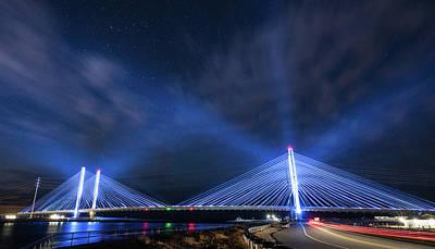 Indian River Bridge Art Print