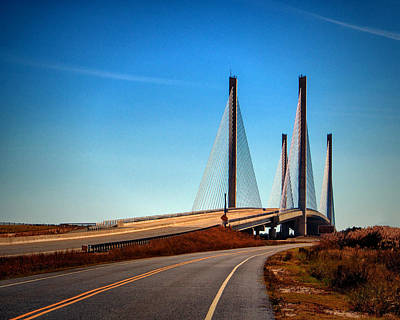 Bay Bridge Photograph - Indian River Bridge North Approach by Bill Swartwout