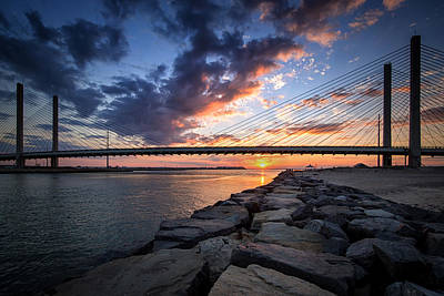 Photograph - Indian River Inlet And Bay Sunset by Bill Swartwout